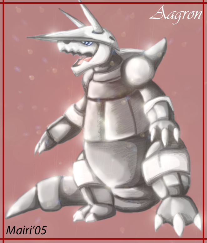 Aggron by Mairiel