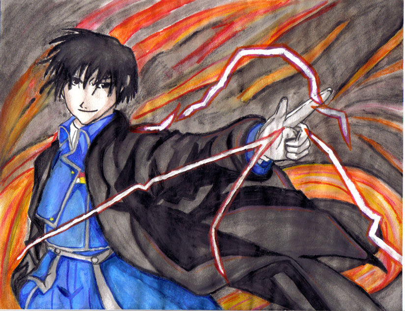 Roy Mustang In WaterColor by Makenshi