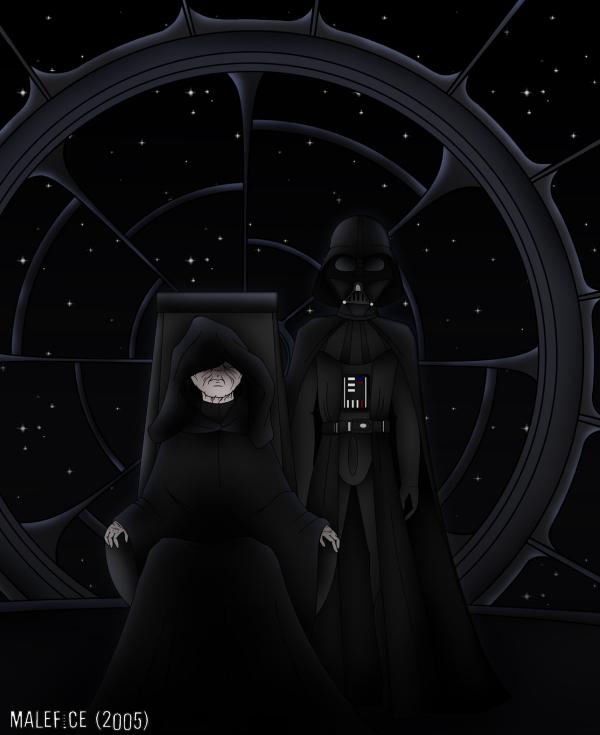 Darth Vader & Emperor Palpatine by Malefice