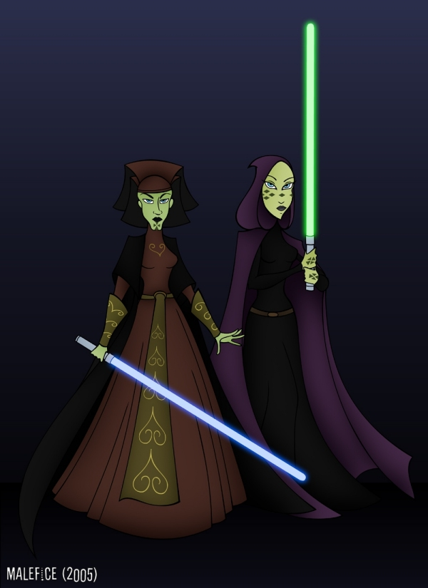 Luminara Unduli & Barriss Offee (Clone Wars Style) by Malefice