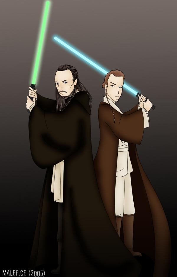 Qui-Gon Jinn & Obi-Wan Kenobi by Malefice