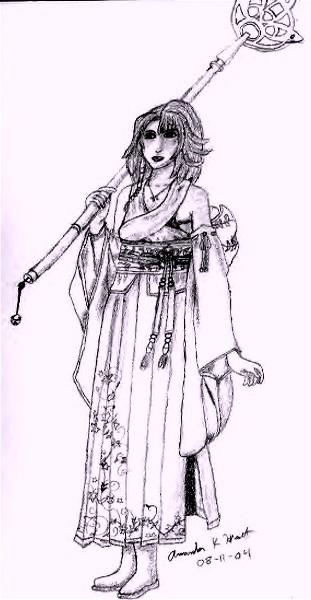 I want to be like Tetsuya Nomura! (FFX Yuna) by Manda_Kay