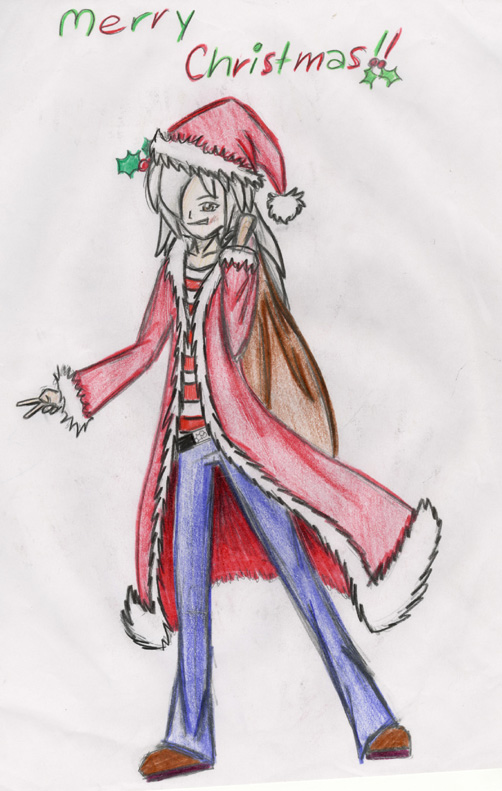 Merry Christmas Bakura!! by Marik_and_Bakura_lover