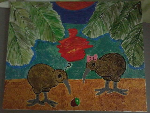 Kiwis and Kiwi by Marilyn