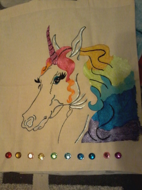 Rainbow Unicorn by Marilyn