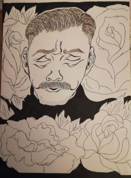 Dr. Robotnik & roses by Marilyn