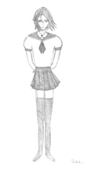 Ishida in a schoolgirl uniform by MasterAkira