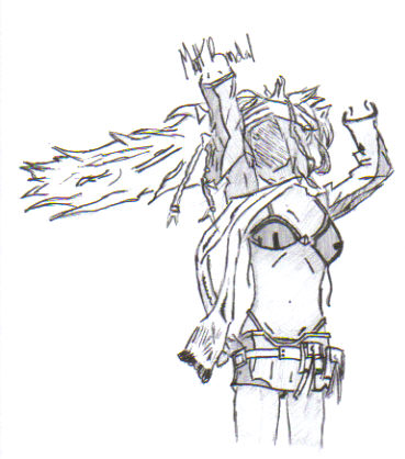 Rikku Sketch (no color) by Matt1125
