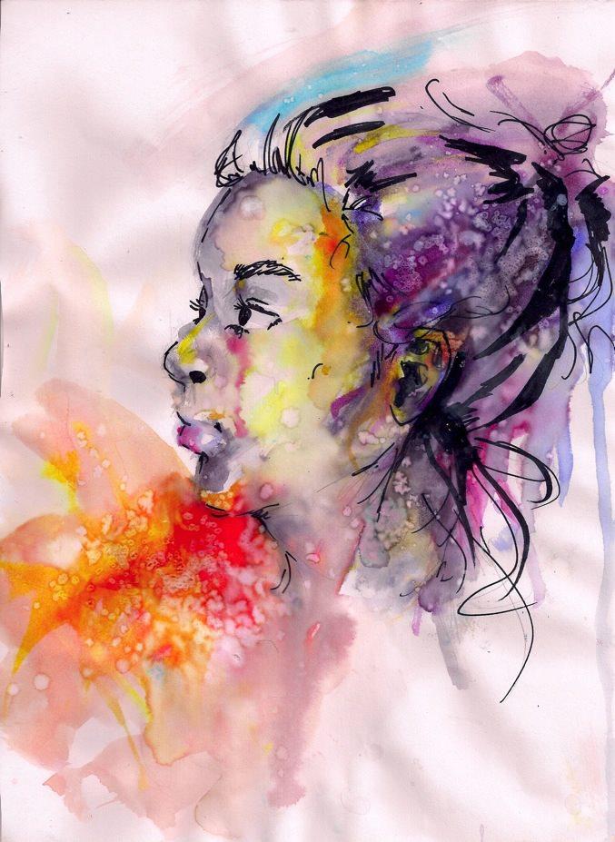 Watercolor BLEH by MeMewSun