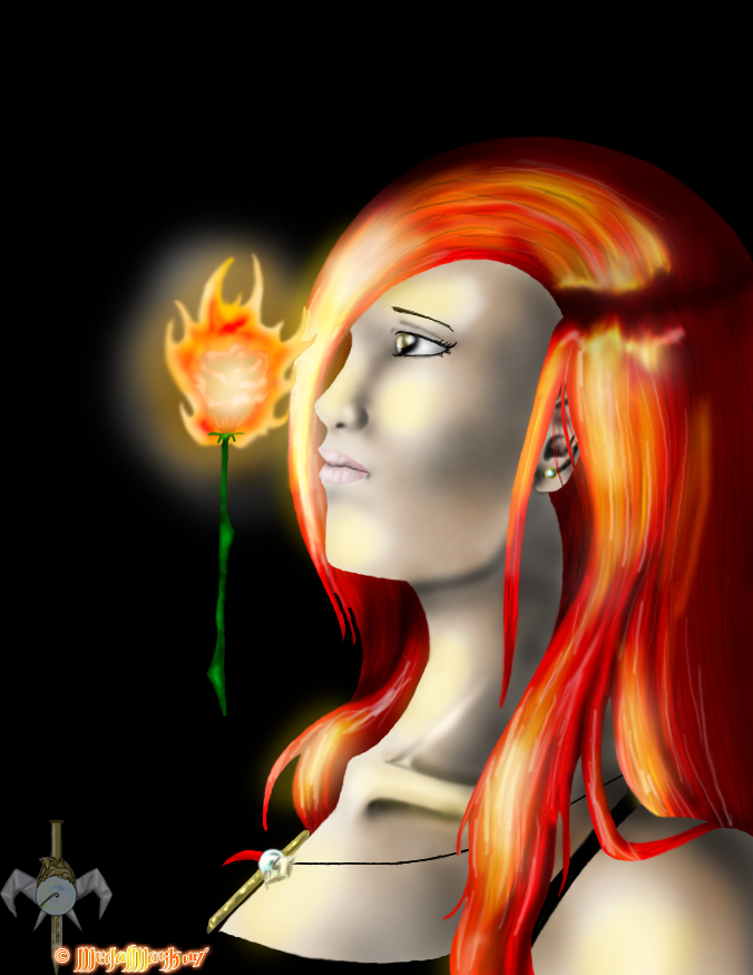 Burning Rose by MedalMask