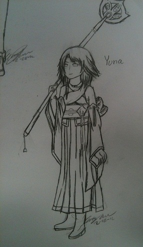 Yuna Lineart by MeiTakahashi