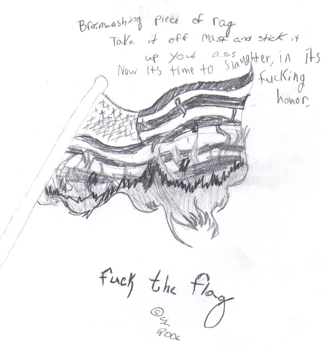 Fuck the Flag by Meisaroku
