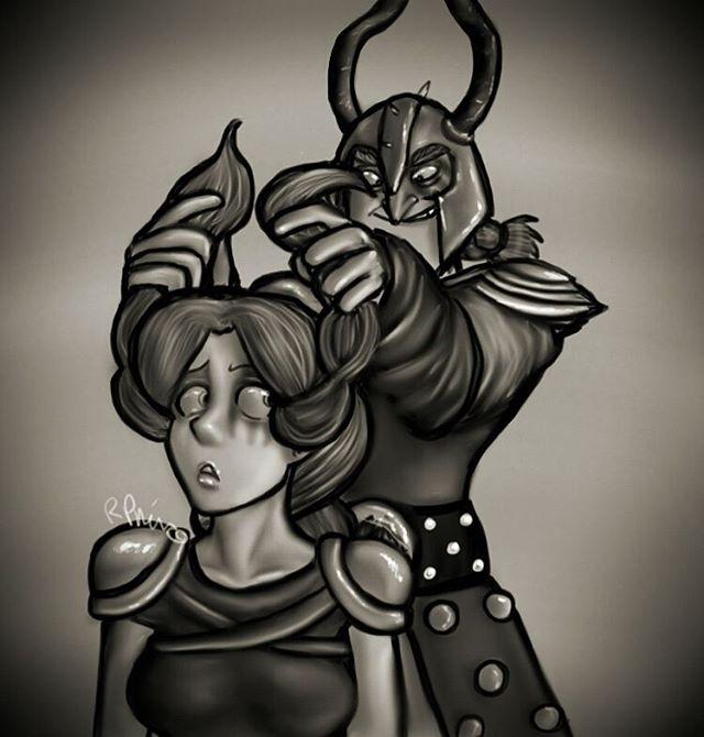 Dagur and Rae - Hair by MeltyCat
