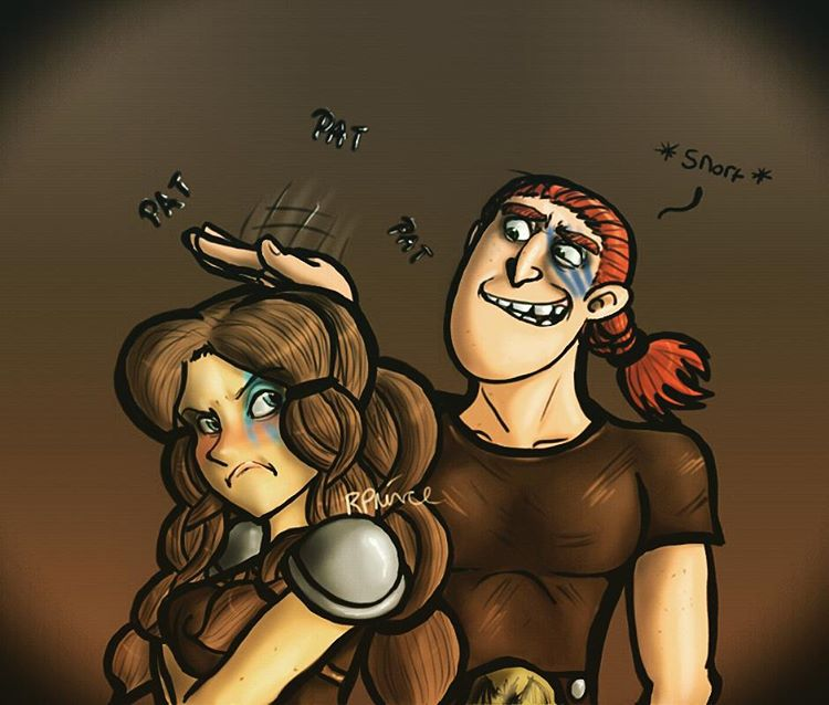 Dagur and Rae - Rae The Shortarse by MeltyCat