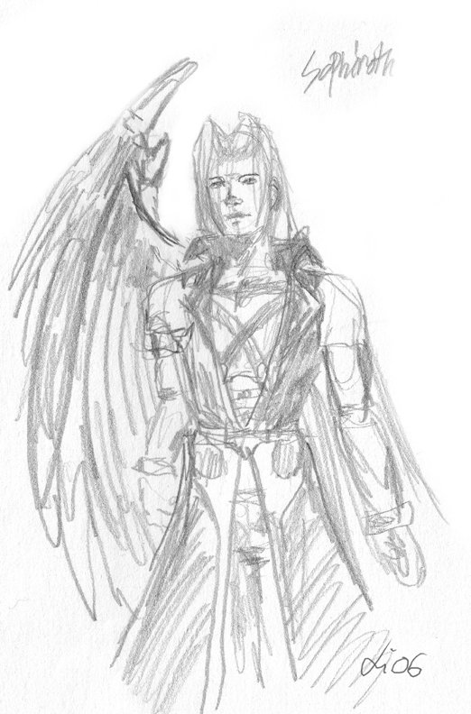 Sephiroth sketch by Melus
