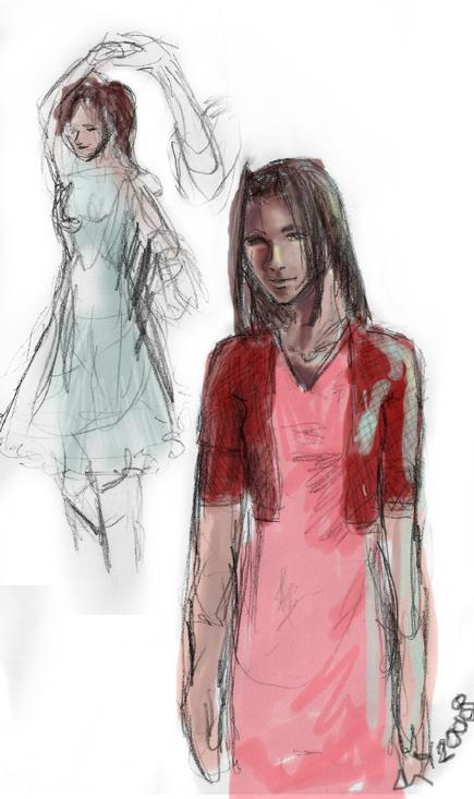 Aeris doodles by Melus