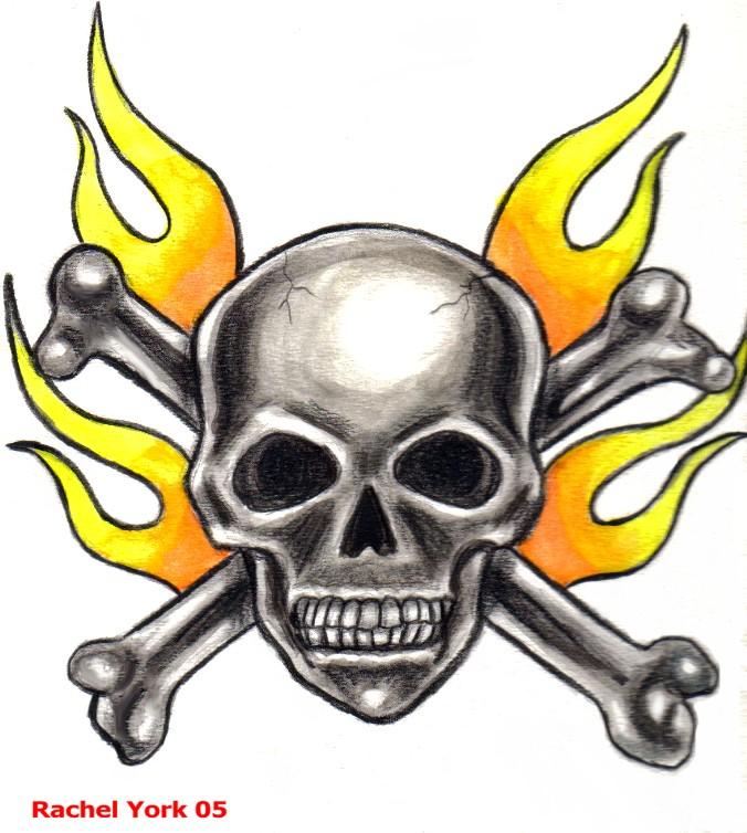 Skull & Flames by MercyfulQueenDiamond