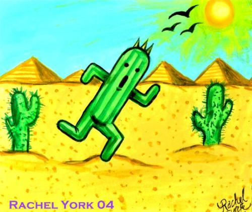 Cactuar in the Desert by MercyfulQueenDiamond