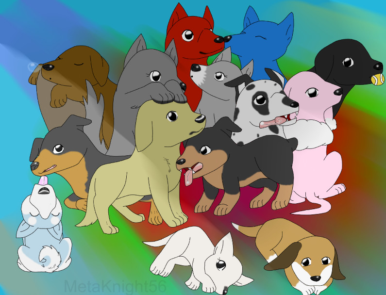 Its like a doggie daycare^__^ by MetaKnight56