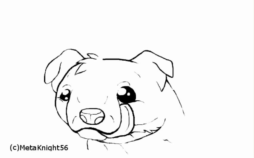 Cute kills!(lineart) by MetaKnight56