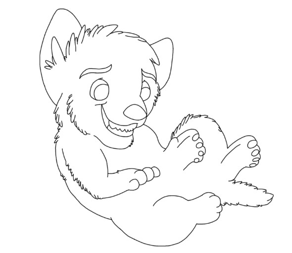 my fluffy tail(lineart) by MetaKnight56