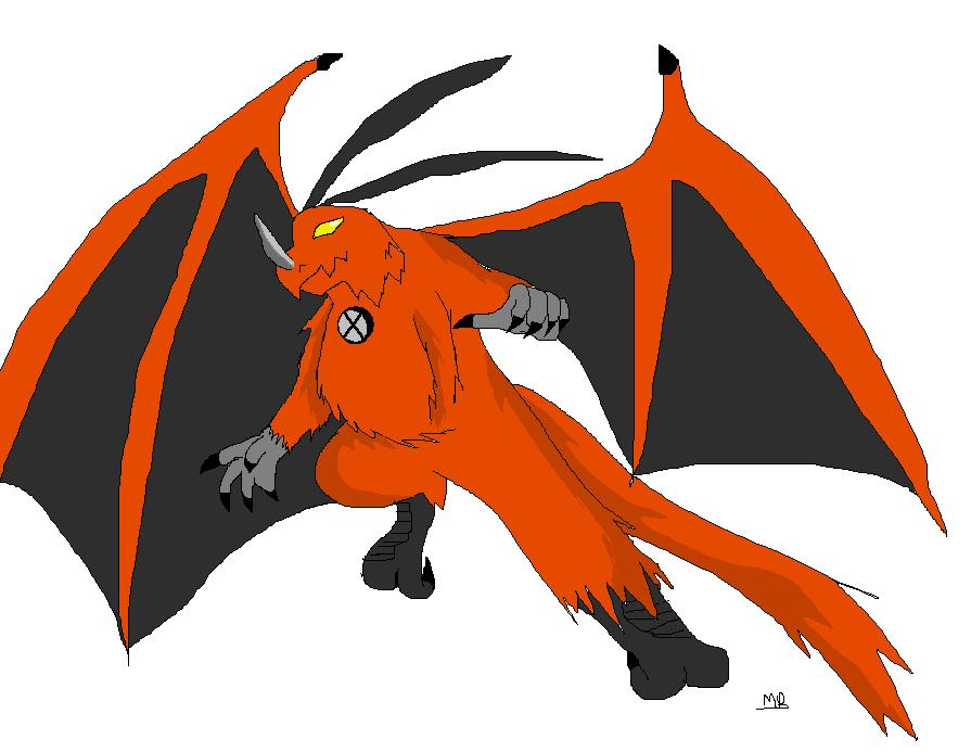Katt as Dragonhawk by Metalbeast