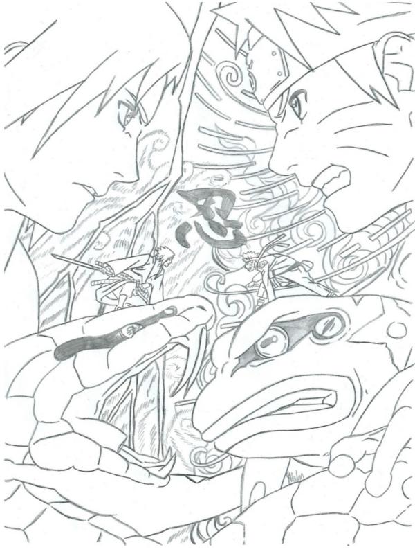 Sasuke vs Naruto by MiaHinasakie