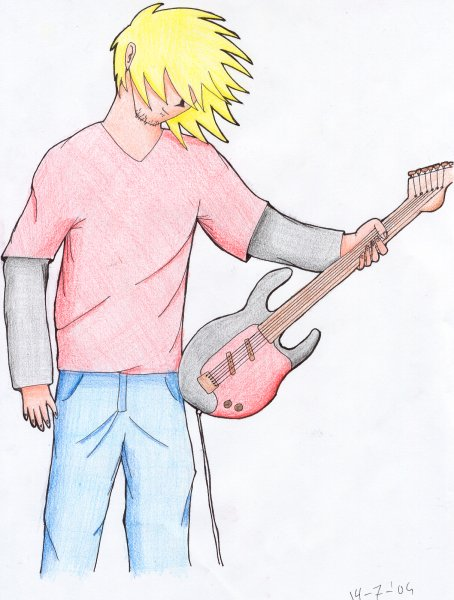 """""""While my guitar gently weeps"""" by Michiel"""