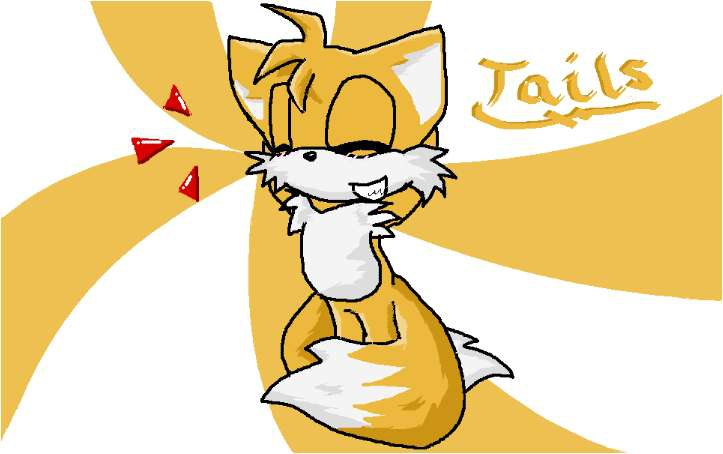 Tails the fox desktop thing by Milesprower_Fox