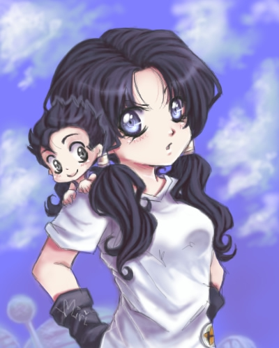 Videl and Gohan by Miriamele