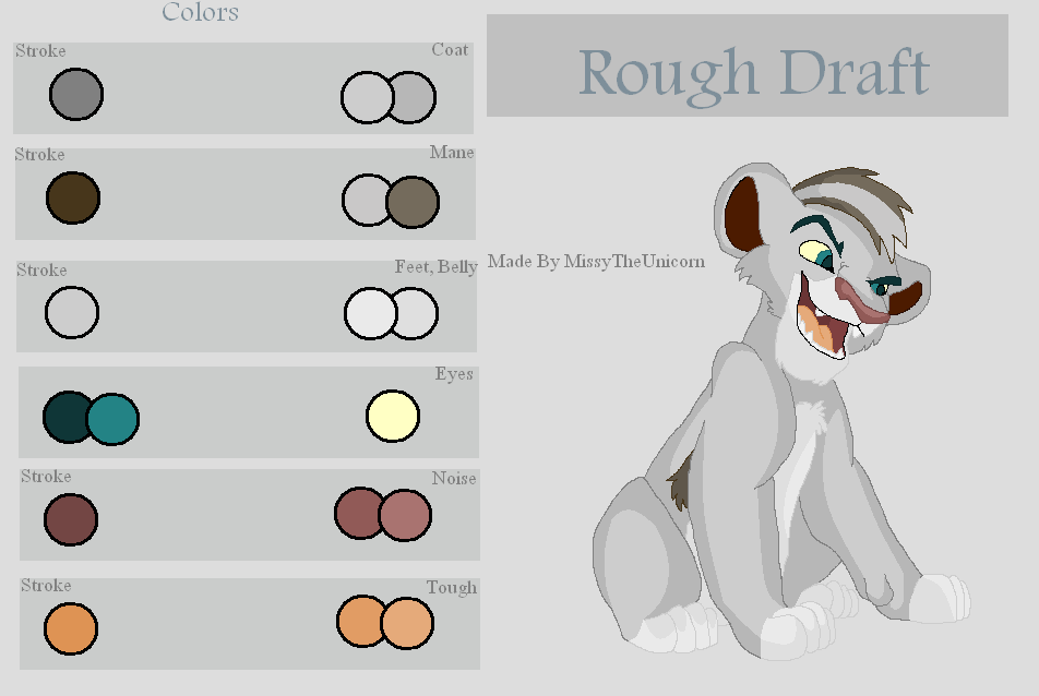 Rough Draft Color Guide by MissyTheUnicorn