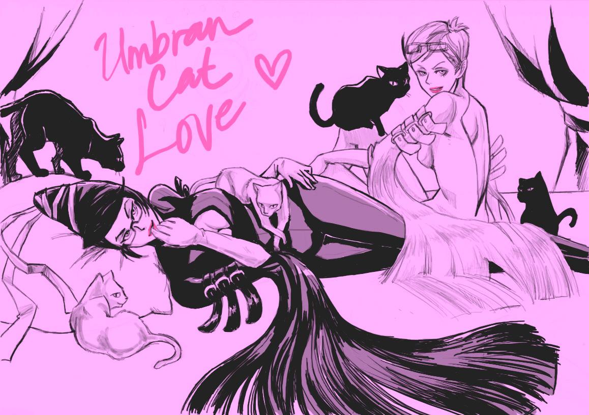 Umbran Cat Love by MondoArt