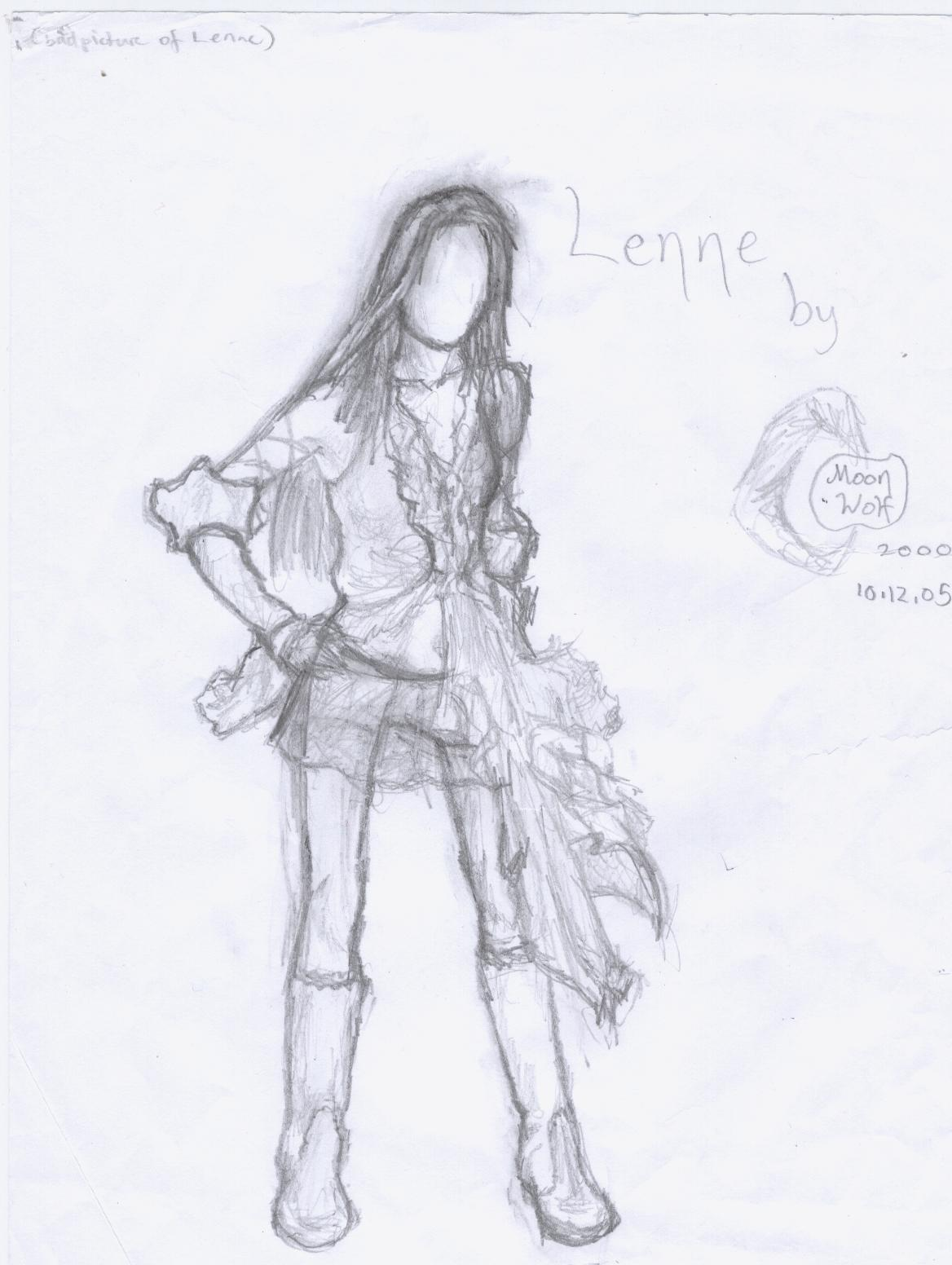 Lenne sketch by MoonWolf2000