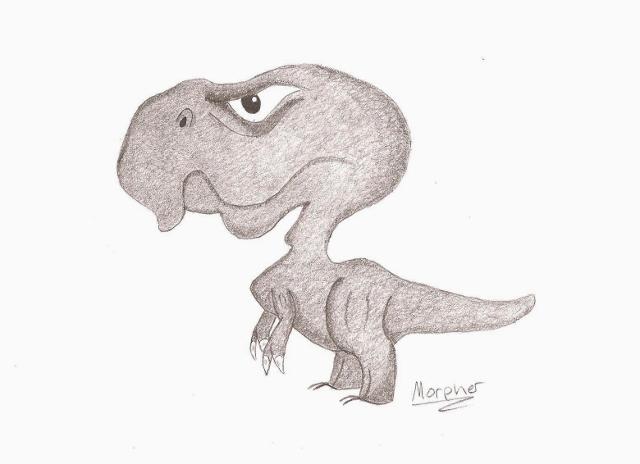 Cartoon T-rex by Morpher