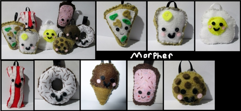 Food Plush Keychains by Morpher