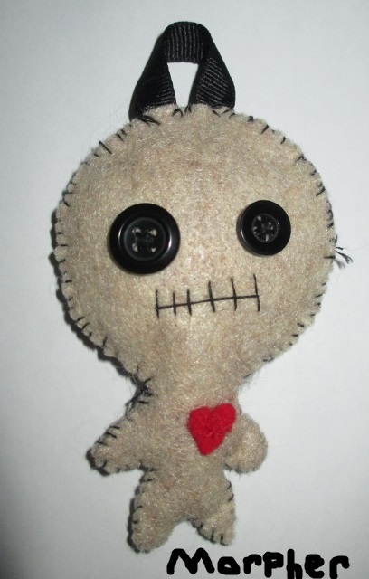 Voodoo Doll Keychain Plush by Morpher