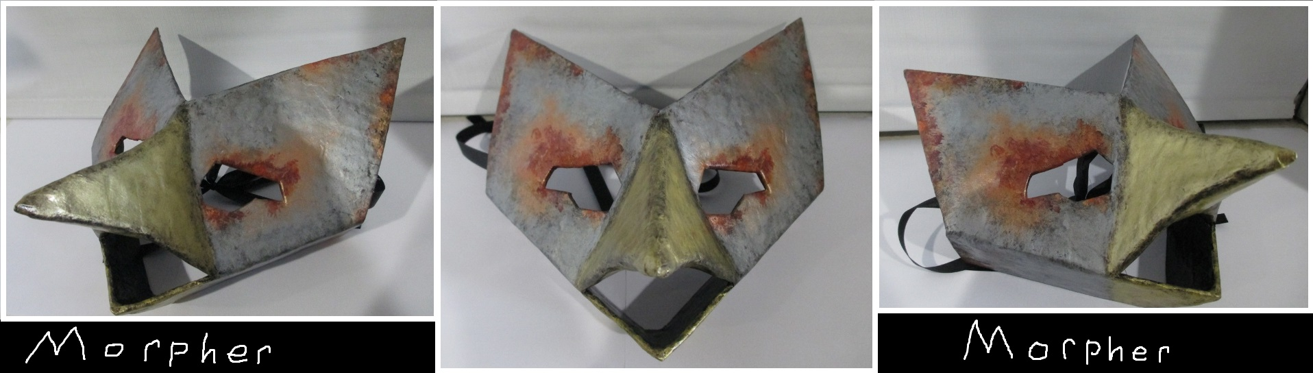 Rusted Metal Bird Mask by Morpher