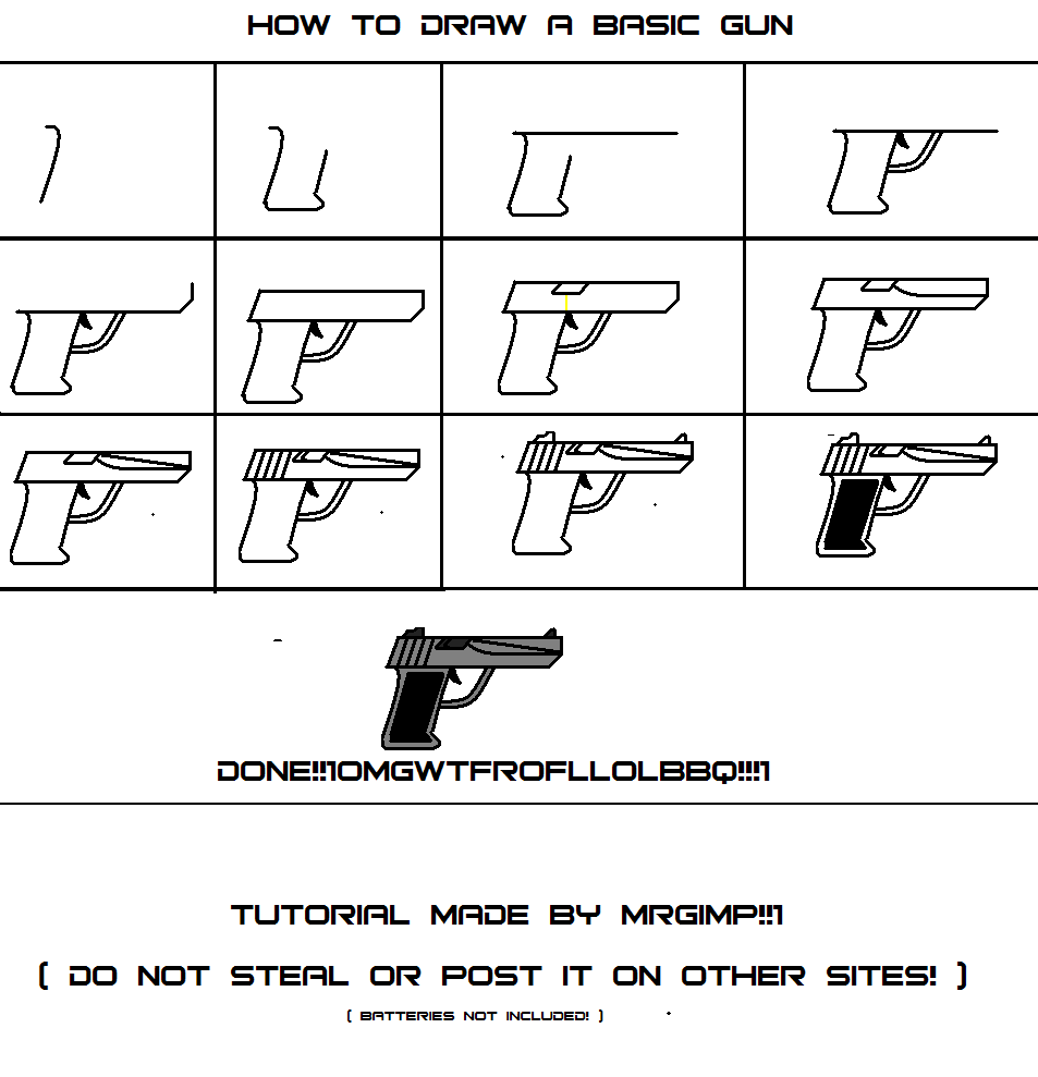 How to draw a basic gun.. by MrGimp - Fanart Central
