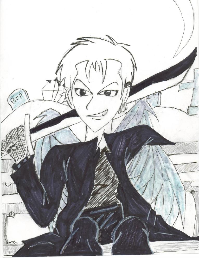 Zoro as a goth by MrsRoronoaZoro