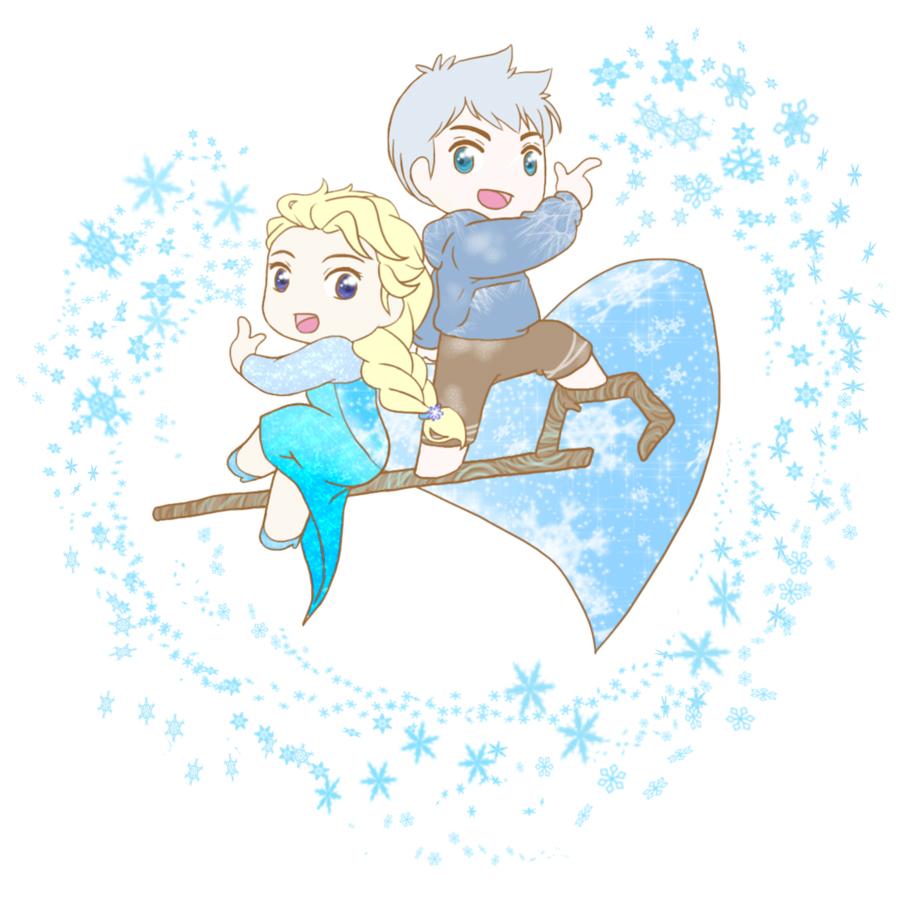 Elsa and Jack by MugenMusouka