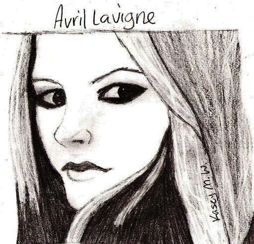 Quick Avril Sketch by My_Haunted_Heart_01