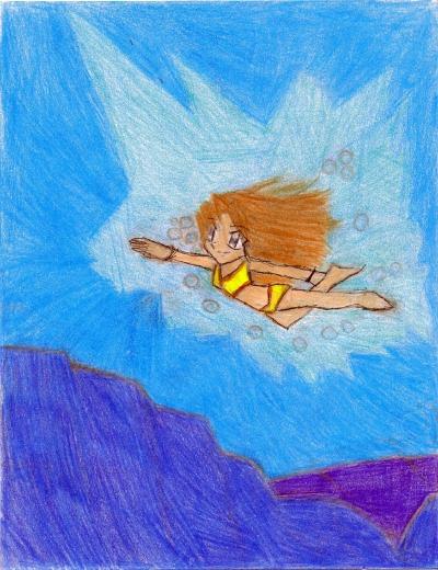 Daisy Underwater (Request for Stephane Dumas) by MyoShenzo