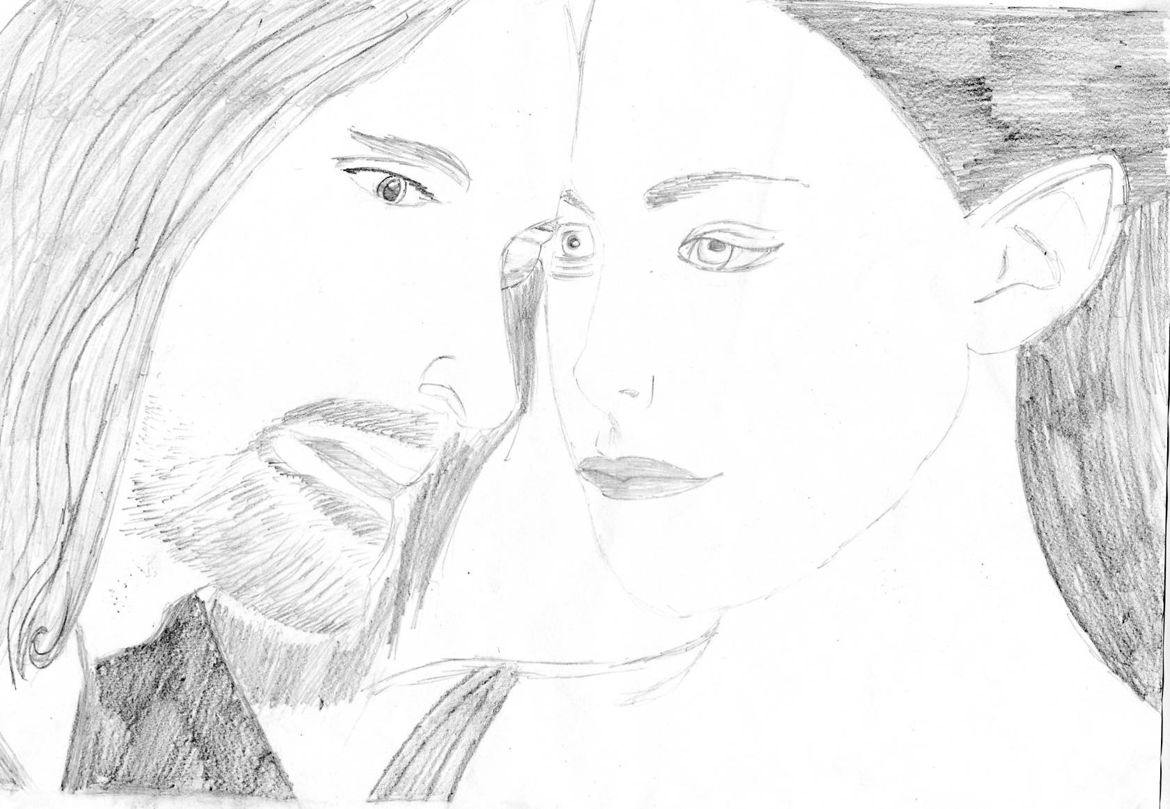 Arwen and Aragorn by madfish