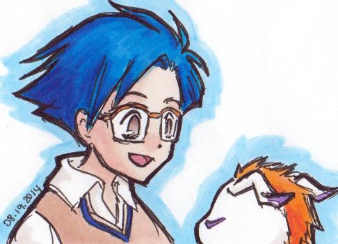 jou + gomamon sketch by mamoa