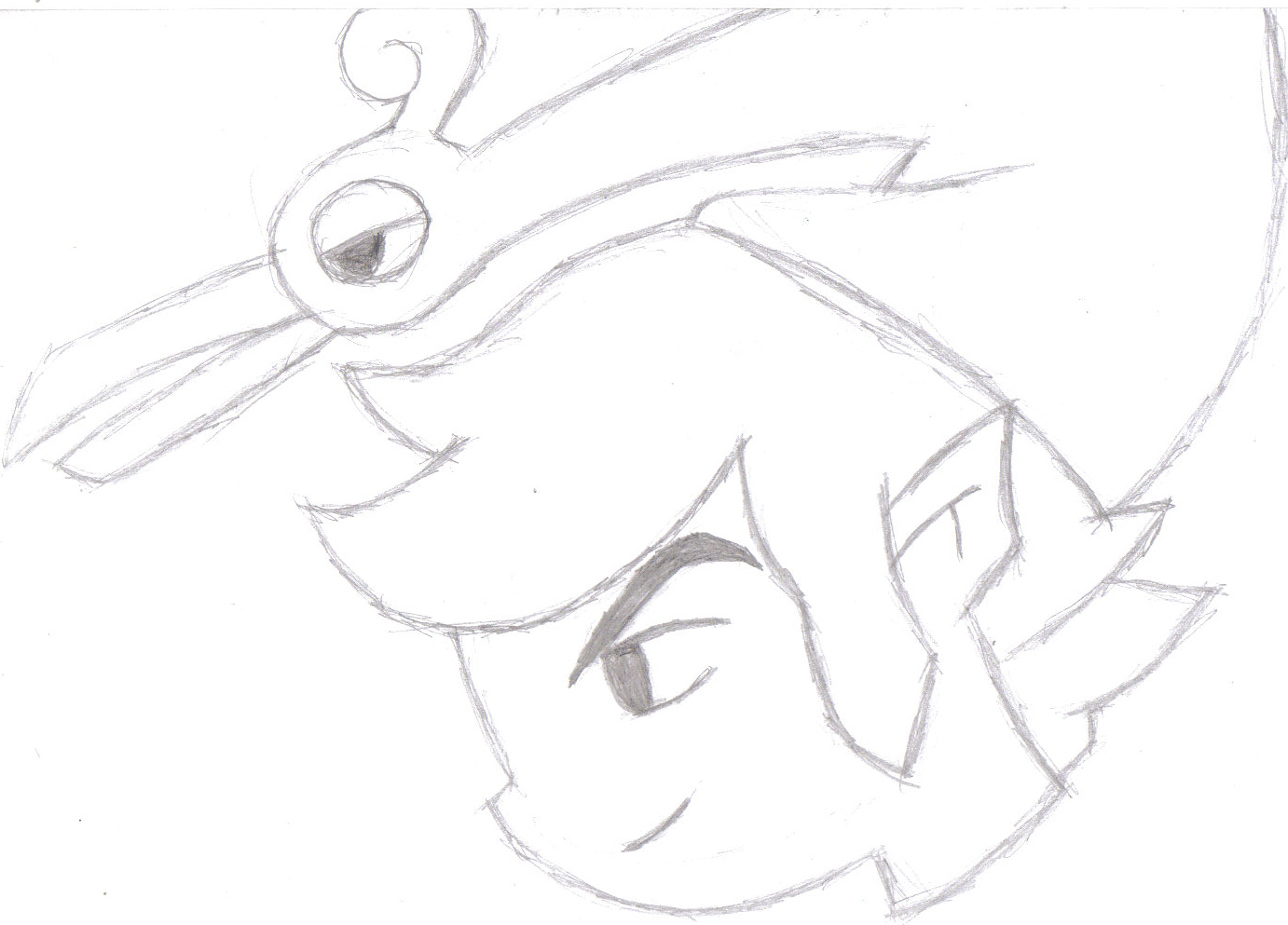 random link and Ezlo 5 min doodle by manga_rules