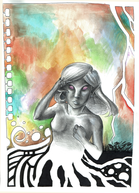 Hippie Drow by mangacheese1818