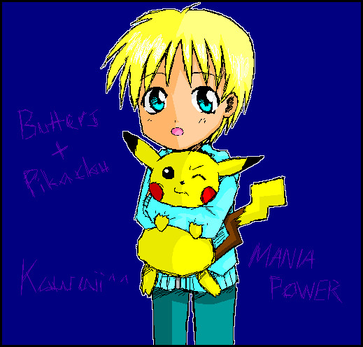 Butters & Pikachu by mania