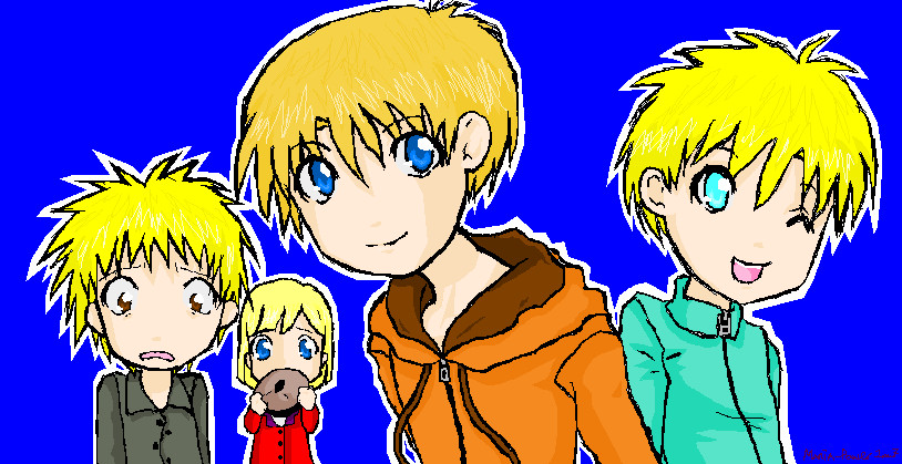 SP - Kenny, Butters, Tweek and Pip by mania