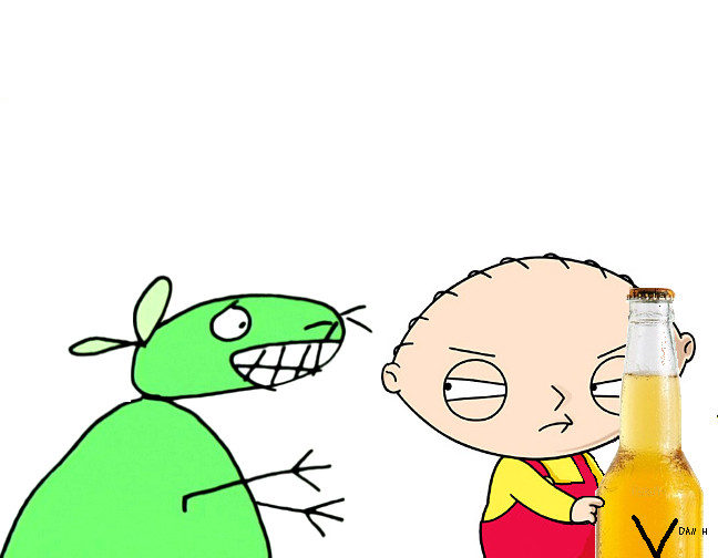 Stewie vs 12 oz mouse by mayoroid