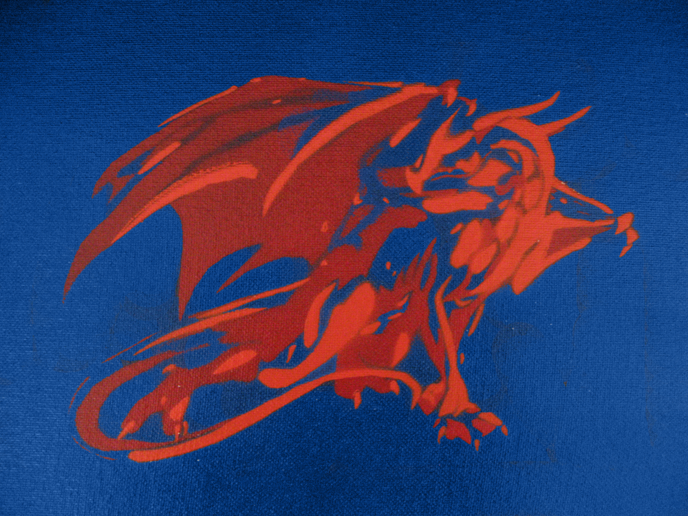 Stencil Dragon by mechadragon13